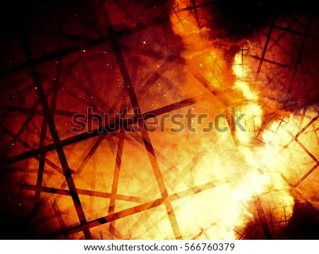 Unusual abstract background like explosion