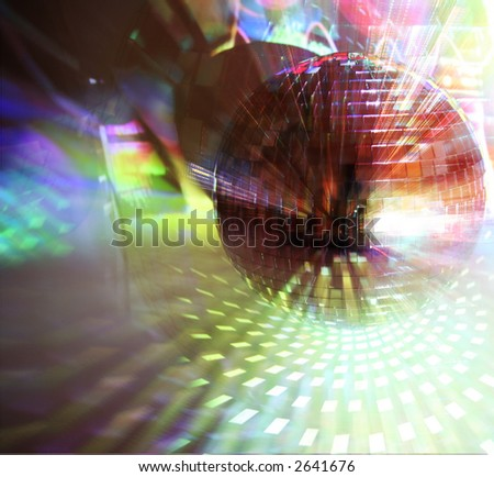 unusual abstract image of a disco mirrorball