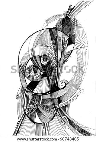 unusual abstract pencil drawing