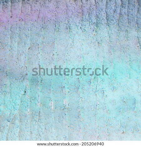 Unusual abstract tender fresh blue grey and pink light painted wall background texture