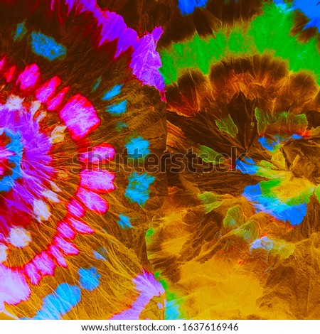 Unusual Acrylic Background. Oil Colored. Retro Shibori Flowers. Colorful Tie Dye. Vintage Colour Explosion Water. Colourful Artists Wall.