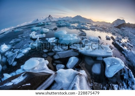 Unusual Arctic ice world - Svalbard