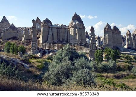 Unusual landscape in Cappadocia, Turkey
