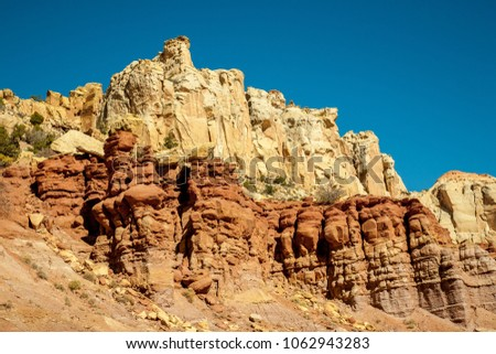Unusual rock formations in Grand Staircase-Escalante National Monument, Utah.