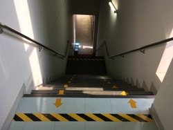 Up and down stairs in the building