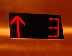 Up Elevator colorful sign