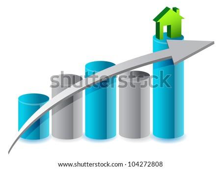 up house market illustration design over white
