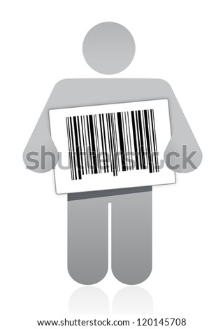 upc barcode and icon illustration design over a white background