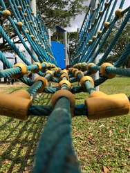 Upclose playground for kids outdoor