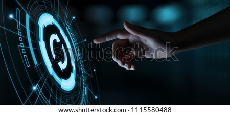 Update Software Computer Program Upgrade Business technology Internet Concept. Foto stock ©
