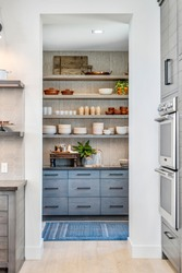 Updated Blue and White Pantry