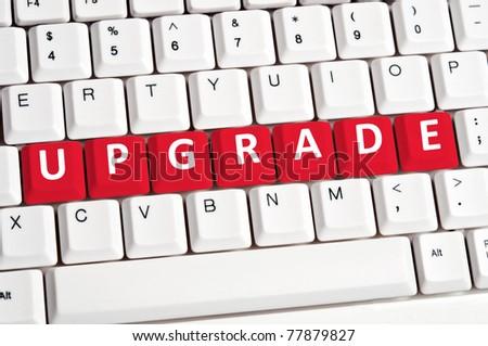 Upgrade word on white keyboard