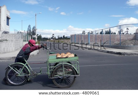 uphill struggle for delivery man in south america