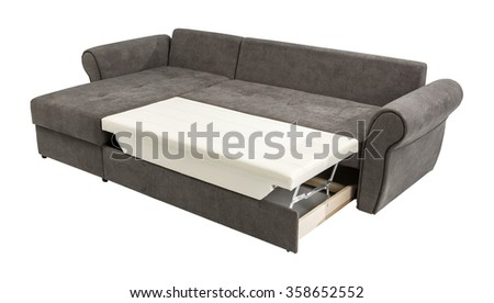 Upholstery sofa corner set  isolated on white background with clipping path #358652552