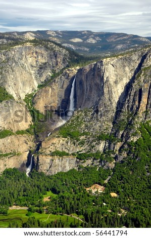 Upper and Lower Yosemite Falls (From Glacier Point), Yosemite National Park, California