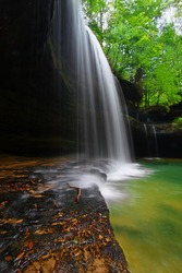 Upper Caney Creek Falls in the William Bankhead National Forest of Alabama