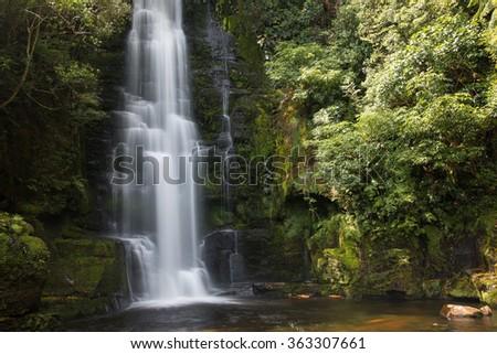 Upper cascade of McLean Falls, New Zealand #363307661
