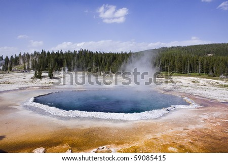 Upper geyser basin Yellowstone