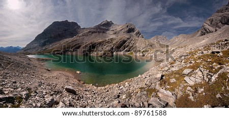 Upper Head Wall Lake , Spray Lake Valley, Alberta, Canada. About 40 Km South of Canmore on the Smith Dorrien Trail (Road)