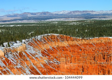 Upper Inspiration Point view of Bryce Canyon National Park in Utah