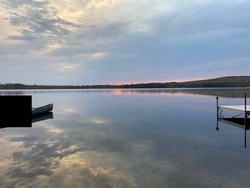 Upper Kimball Lake NH Sunrise