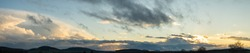 upper lusatian cloud scape panorama