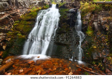 Upper Memorial Falls in the Lewis and Clark National Forest of Montana