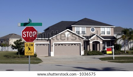 Upper middle class home in an upper middle class neighborhood