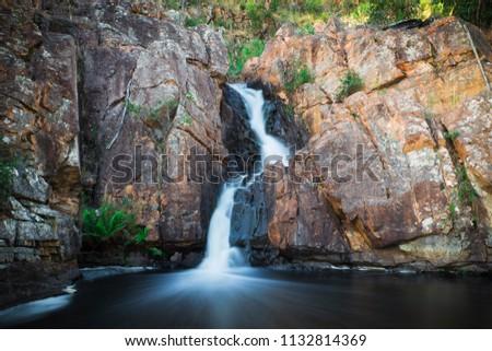 Upper part of MacKenzie Falls waterfall in Grampians National Park, Victoria, Australia Stock photo ©