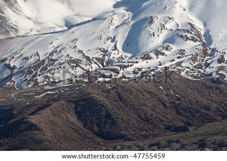 Upper slopes of Mt. St. Helens - stock photo