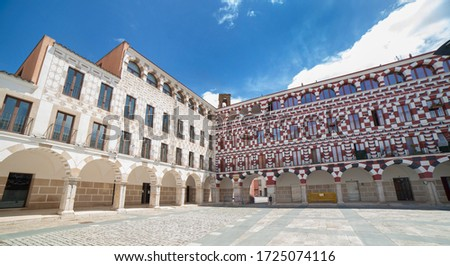Upper Square of Badajoz or Plaza Alta, Extremadura, Spain. It was for centuries the center of the city
