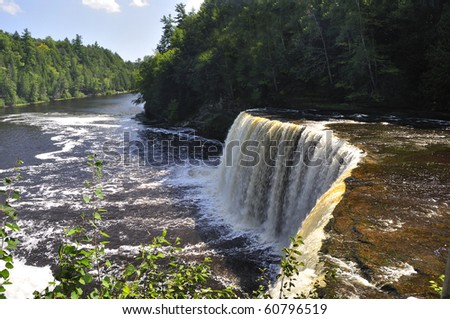Upper Tahquamenon Falls in Michigan - stock photo