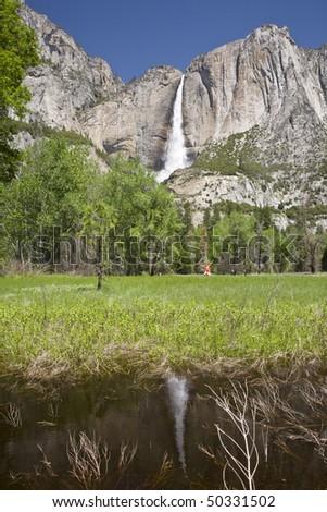 Upper Yosemite Falls in Spring