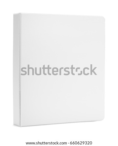 Upright Binder with Copy Space Isolated on White Background.
