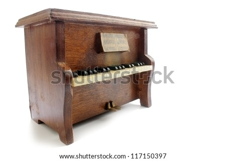 Upright piano isolated