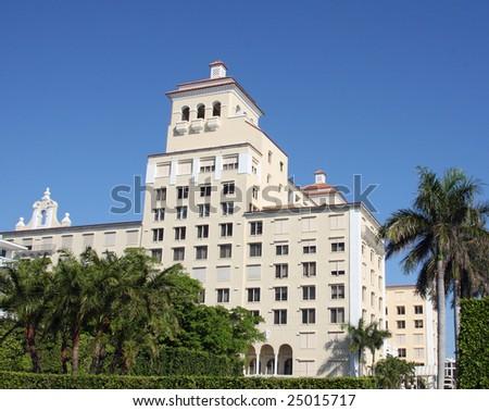Upscale condominium on Palm Beach, Florida