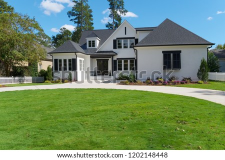 Upscale house exterior #1202148448