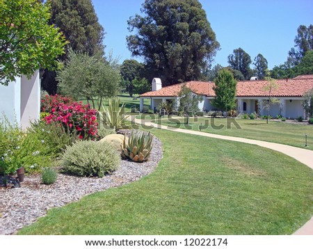 Upscale inn and spa in Southern California and gardens