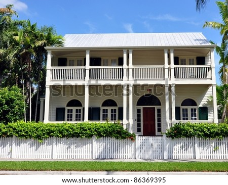 Upscale key west style architecture stock photo 86369395 for Key west architecture style
