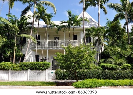 Upscale key west style architecture stock photo 86369398 for Key west architecture style