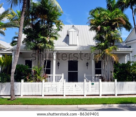 Upscale key west style architecture stock photo 86369401 for Key west architecture style