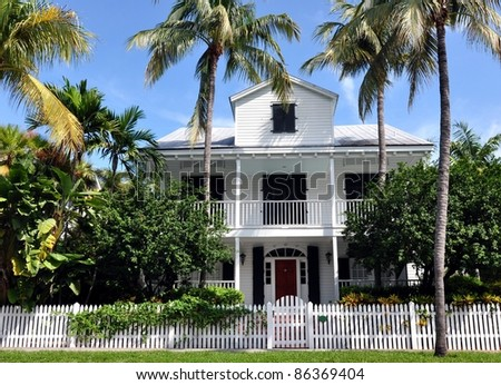 Upscale key west style architecture stock photo 86369404 for Key west architecture style
