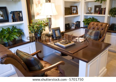 Upscale residential home office.