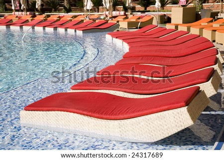 Upscale resort pool
