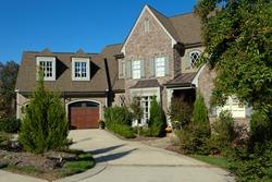 Upscale suburban house