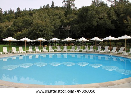 Upscale swimming pool in Northern California in Napa Valley
