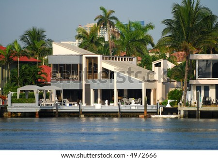 Upscale waterfront home