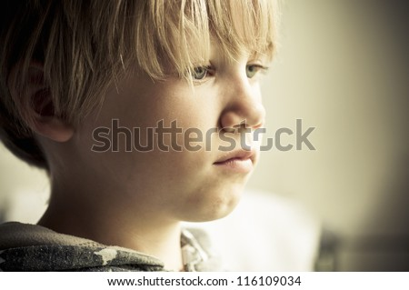 Upset child - stock photo