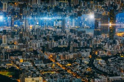 Upside Down Cityscape Science Fiction of Hong Kong City