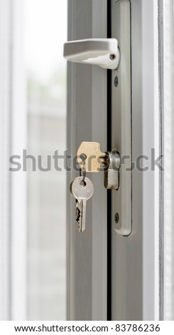 UPVC patio door lock and keys